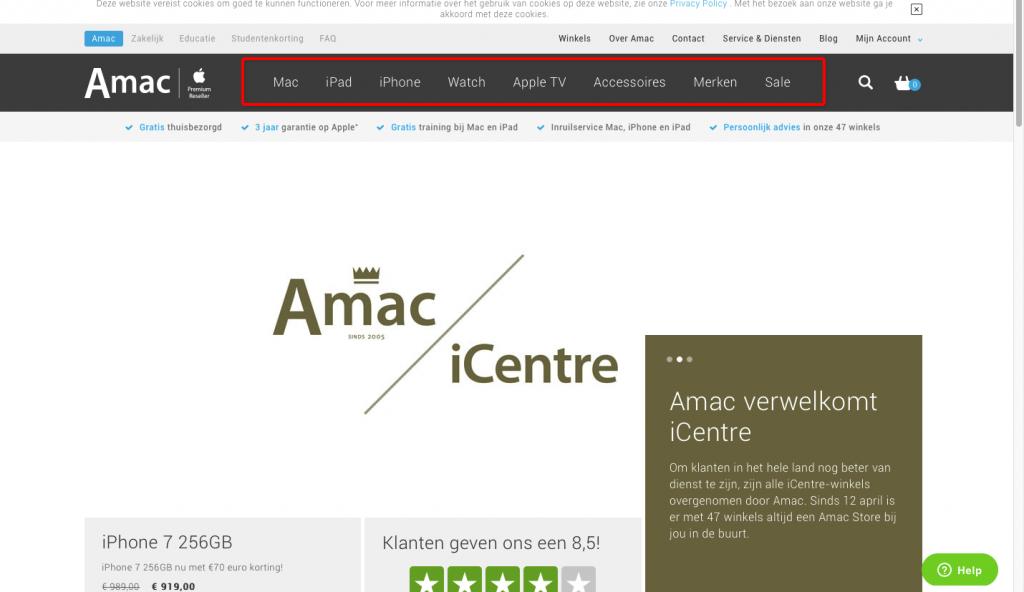Homepagina A-Mac