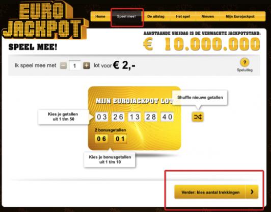 Eurojackpot kortingscode